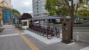 福島駅東口シェアサイクル拠点サイクルポート設置工事